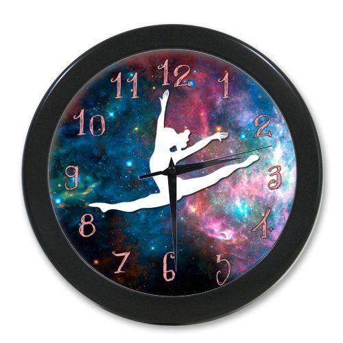 100% Quartz Funny Cute Gymnastic Galaxy Office Wall Clock Wall Clocks  Http://