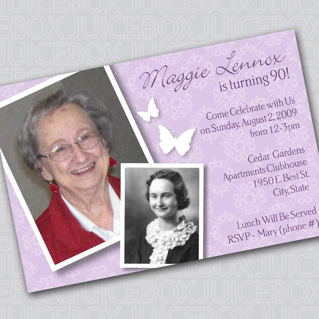 90th Birthday Invitation Wording For Aurel
