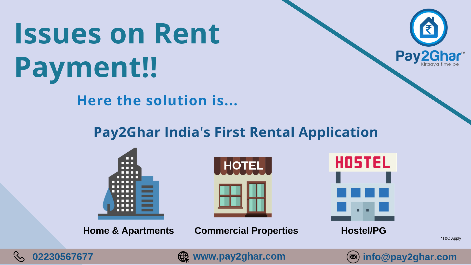 Issues With Rent Payments Here Comes The Solution Pay Your Rent Hassle Free On Pay2ghar And Wi Rental Application Electricity Bill Payment Being A Landlord