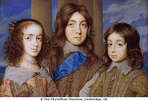 Mary, Princess Royal, Charles II when Prince of Wales, and James II when Duke of York--the eldest children of Charles I and Henrietta Maria by lisby1, via Flickr