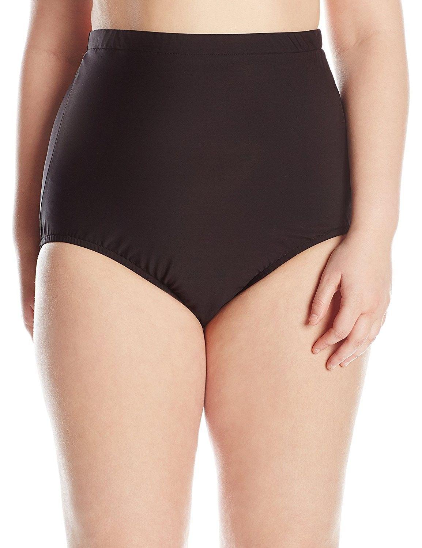 7e8687a221821 Women's Clothing, Swimsuits & Cover Ups, Bikinis, Bottoms, Women's  Plus-Size Tummy Control Ultra High Waist Brief Bikini Bottom - Black -  CS11LOKWXGL ...