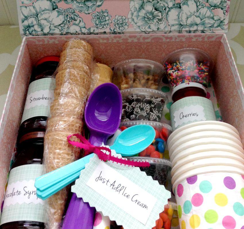 Diy ice cream sundae gift basket gifts diy gifts diy