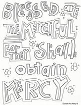 Sermon On The Mount Coloring Pages And Printables From Religious Doodles