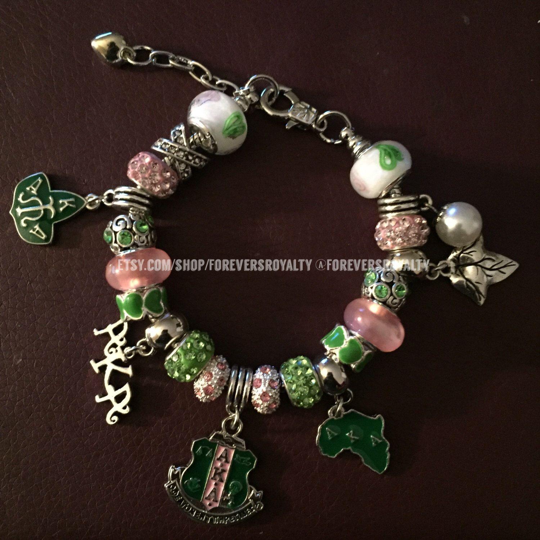A Personal Favorite From My Etsy Https Www Listing 386075366 Aka Sorority Charm Bracelet