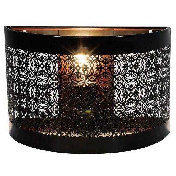 Applique Andalouse Metal Noir Ajoure Applique Murale Leroy Merlin Deco Luminaire Et Lumiere De Lampe
