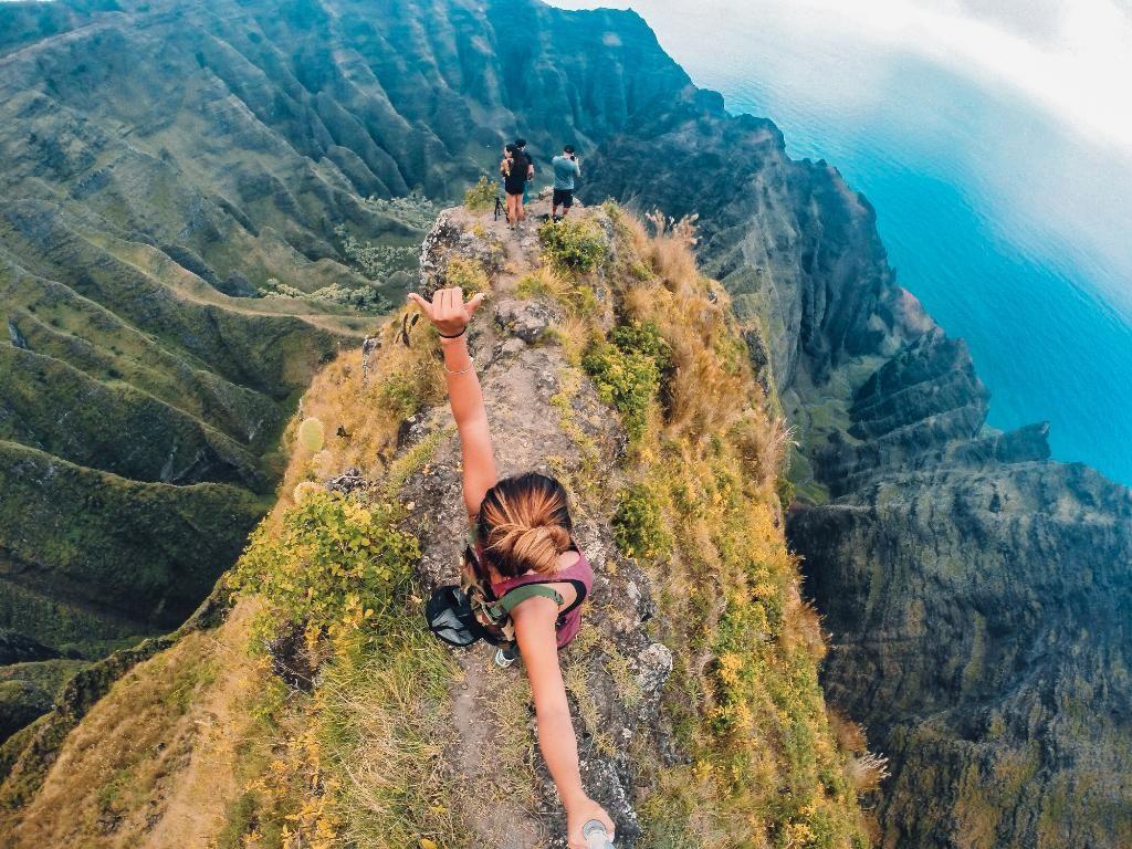 Photo of the Day! Aloha from the top of Awa'awaphi Trail, Kaua'i. Image via Venture Hawai'i. #GoProGirl #GoProTravel