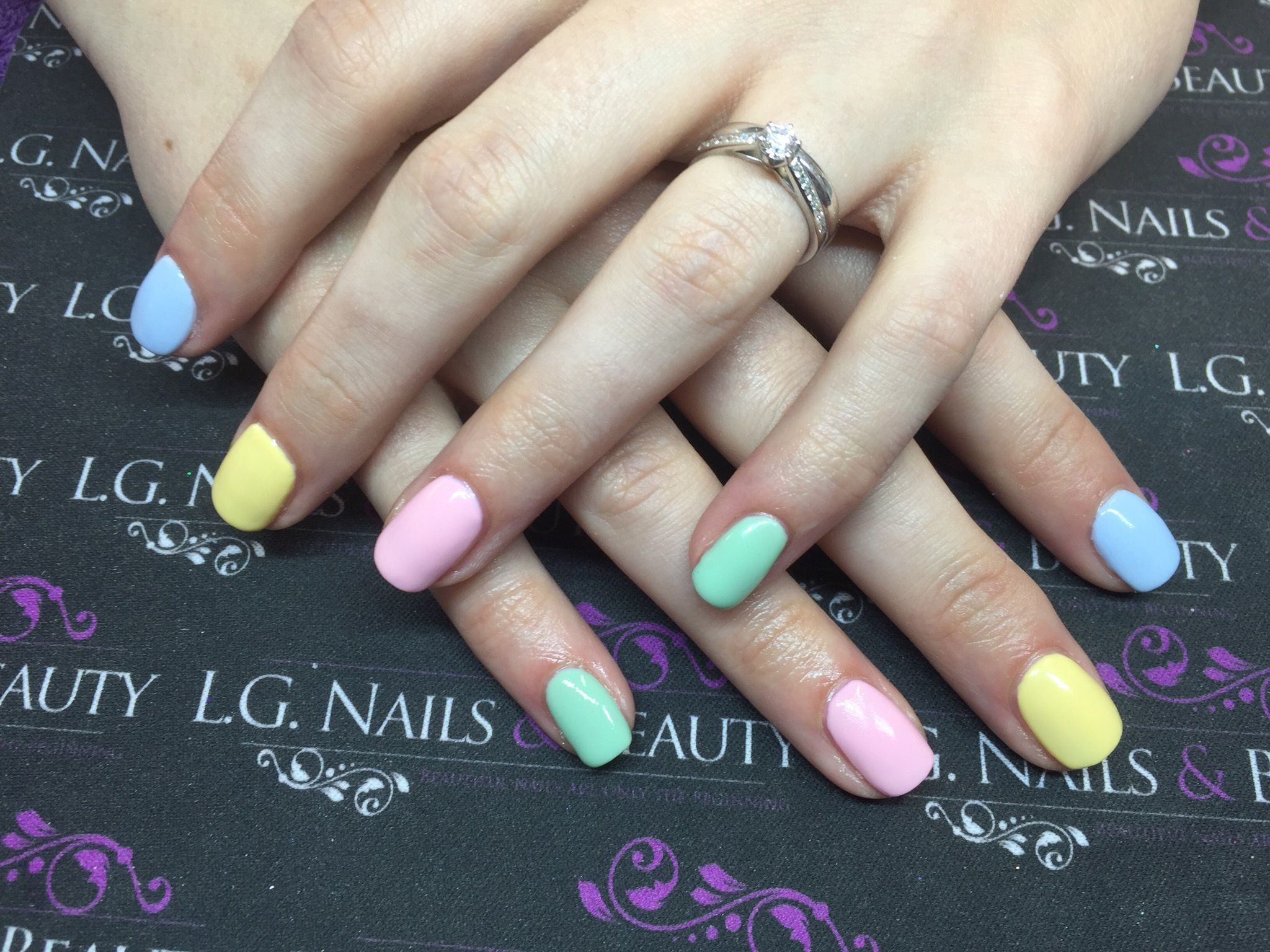 Image result for pastel gel nails