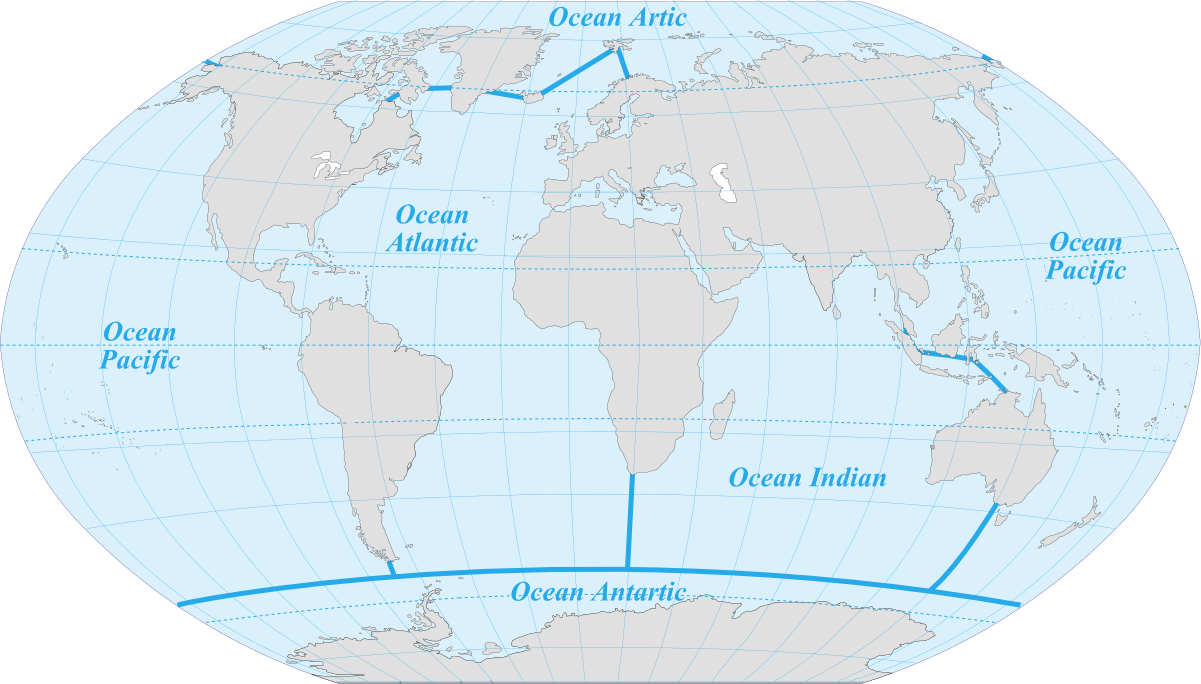 The five oceans maps on the web pinterest ocean the five oceans gumiabroncs Image collections