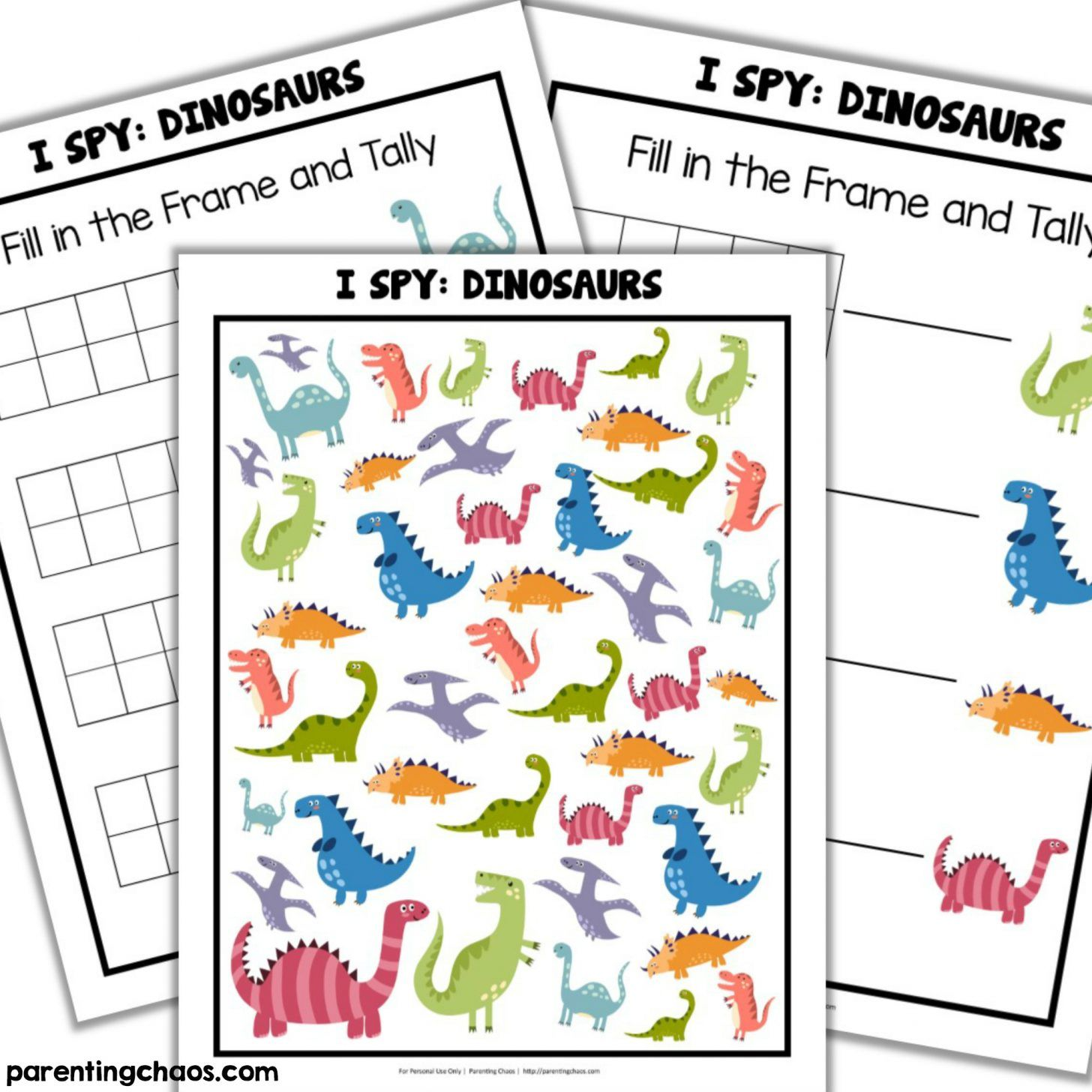 Dinosaurs I Spy Printable