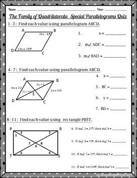 Quadrilaterals - The Family of Quadrilaterals: Special ...