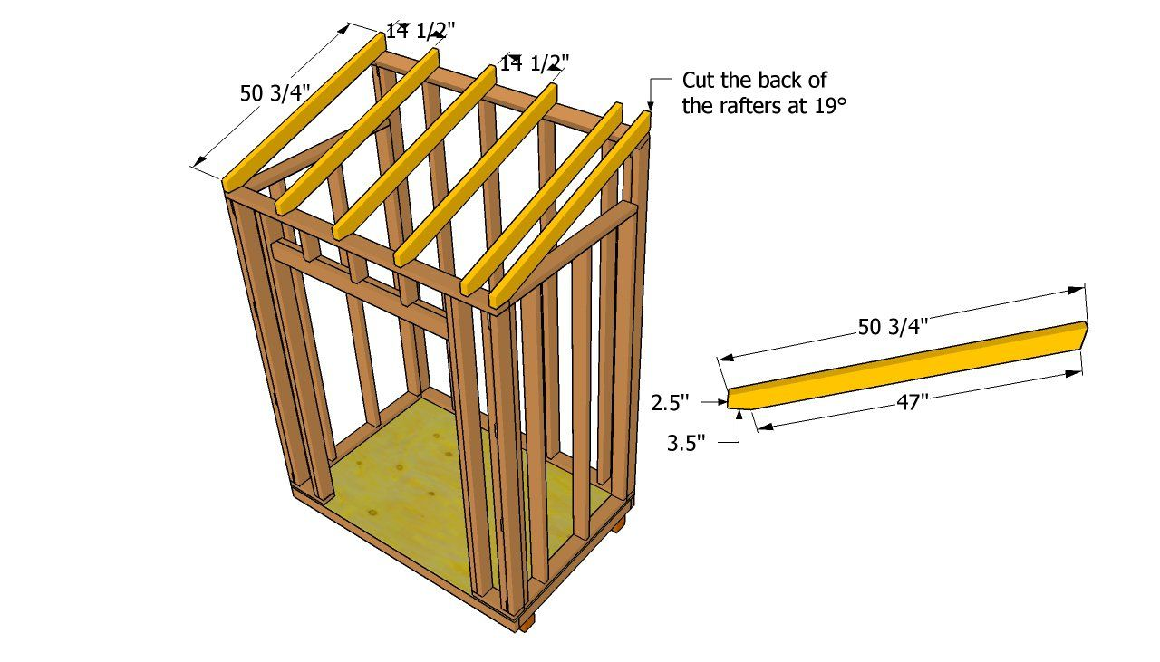 installing the rafters building ideas pinterest woodworking