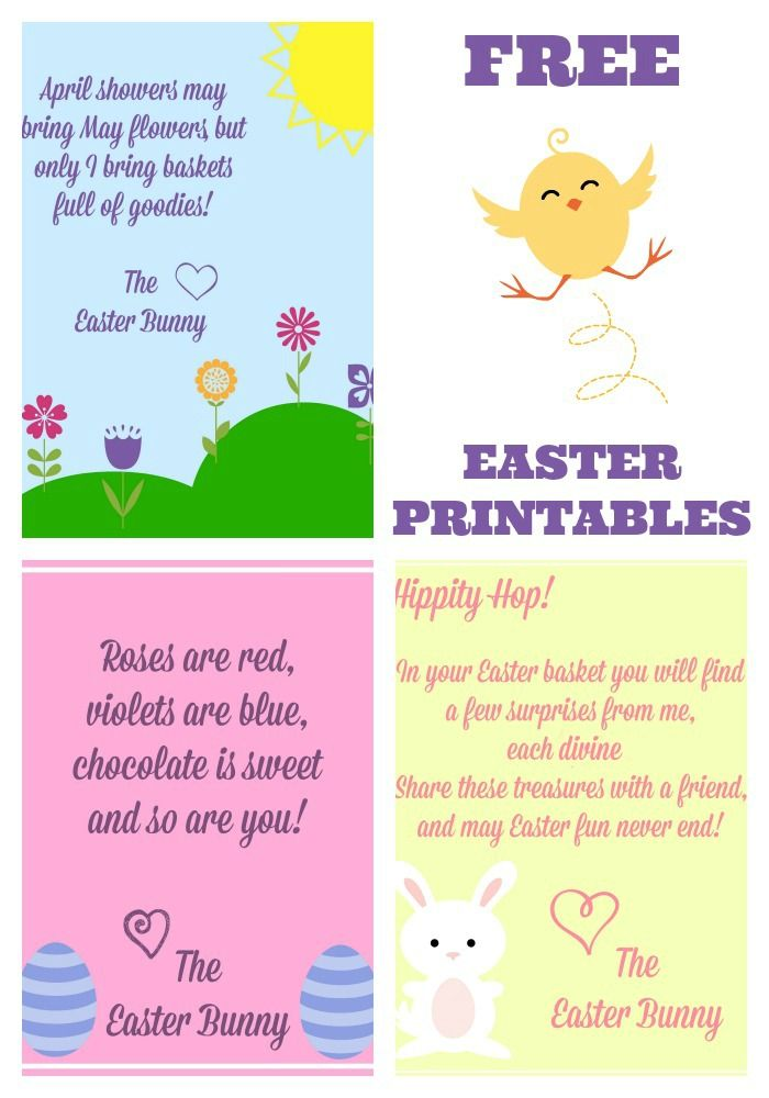 Free Easter Printables Notes From The Easter Bunny   Easter