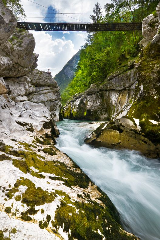 Small Soca Gorge Bovec Slovenia Memories Of Canyoning And Swimming In This River