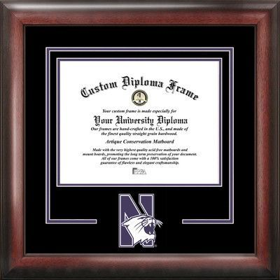 Campus Images NCAA Northwestern University Spirit Diploma Picture Frame