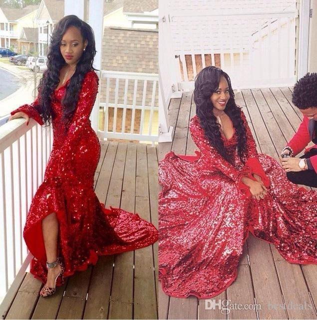 Long Sequin Mermaid Prom Dress