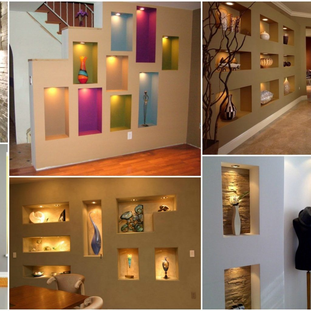 Decorating Ideas For Living Room Wall Niche | Niche design ...