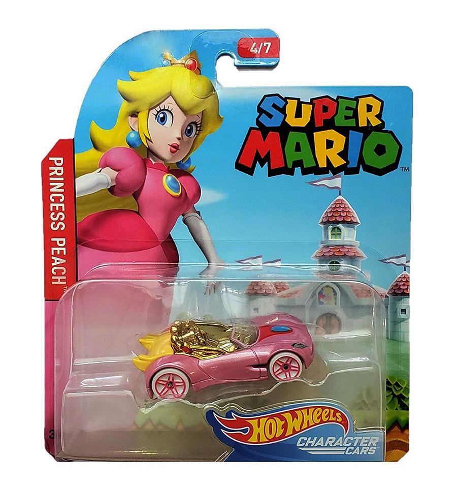Hot Wheels Super Mario Character Cars Princess Peach Vehicle 4 7 Hot Wheels Toys Hot Wheels Hot Wheels Garage