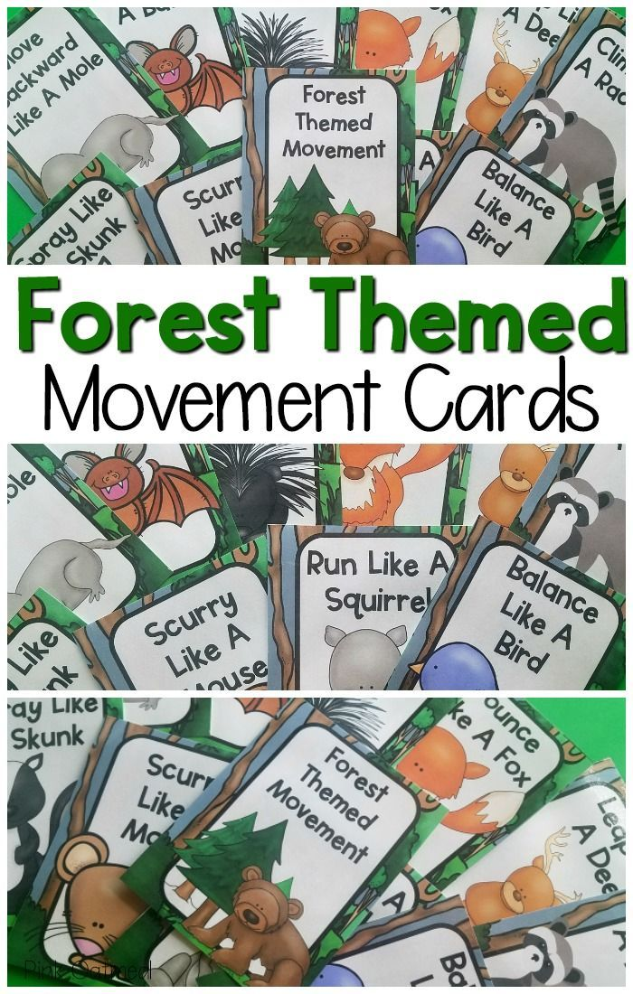 Forest Movement Cards and Printables Forest school