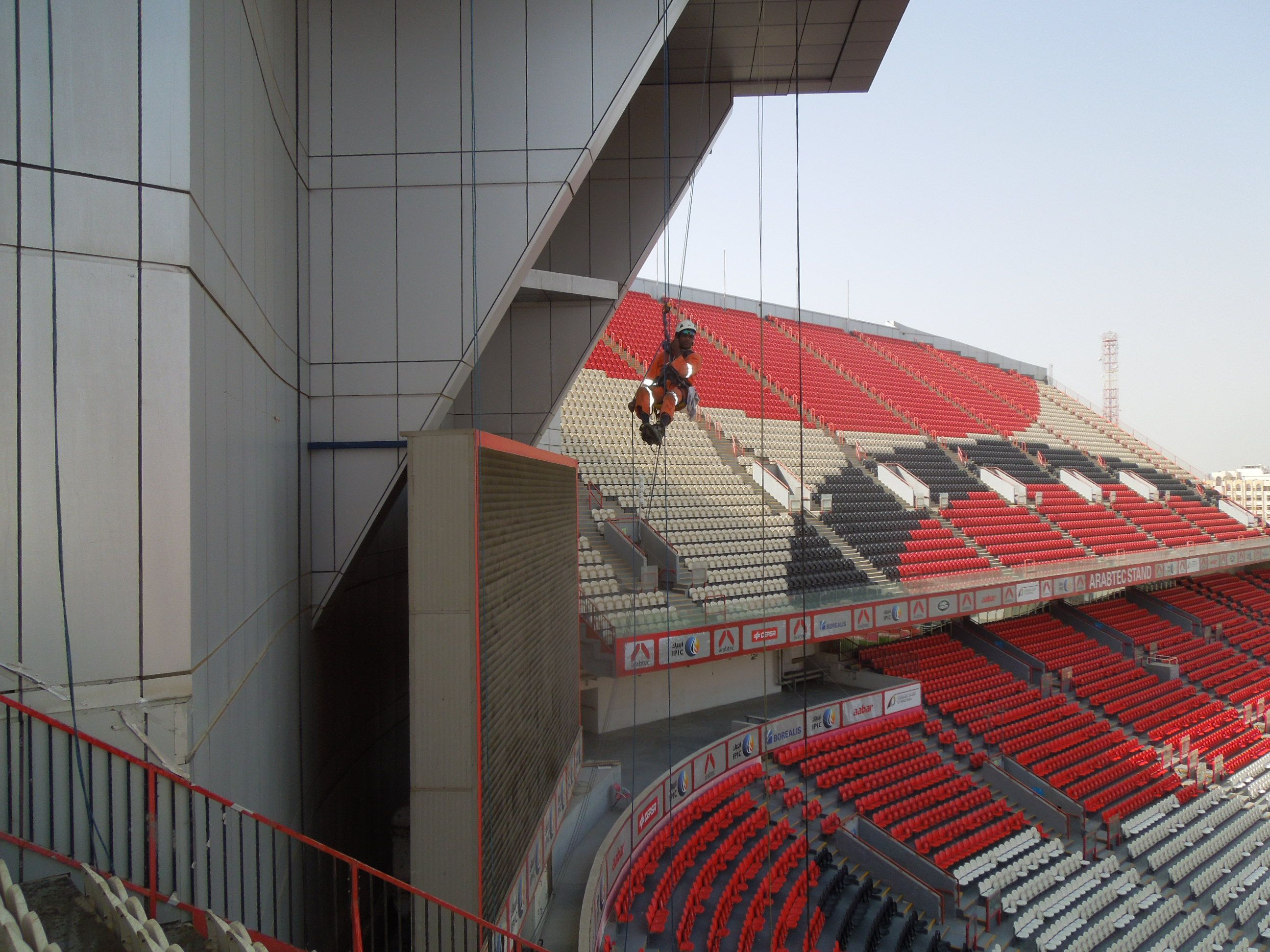 Our Latter Rope Access Window Cleaning Project At Dubai Design