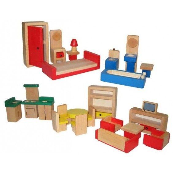 dolls furniture set. Fun Factory - Doll House Furniture Set Dolls