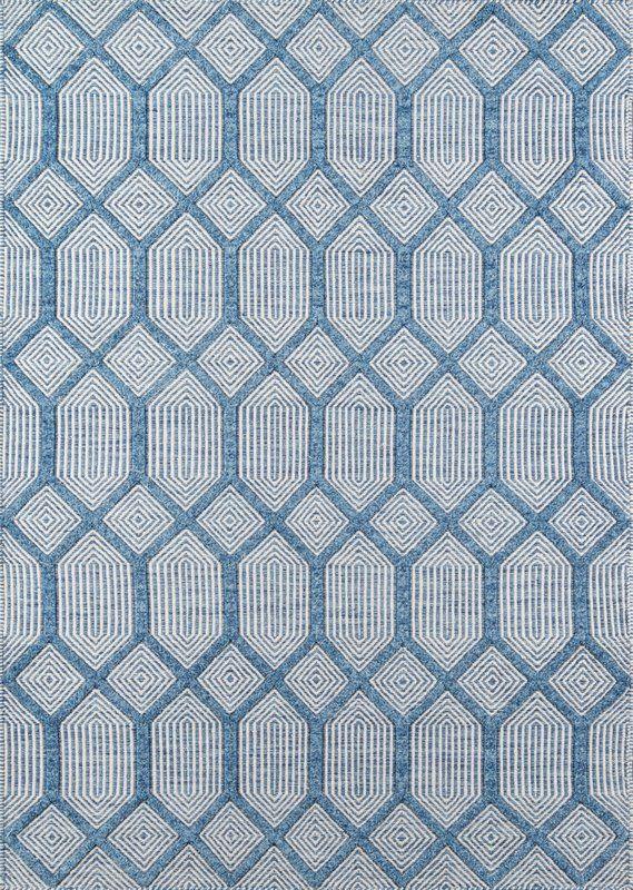 Langdon Geometric Handwoven Flatweave Wool Blue Area Rug In 2020 Erin Gates Area Rugs Wool Area Rugs