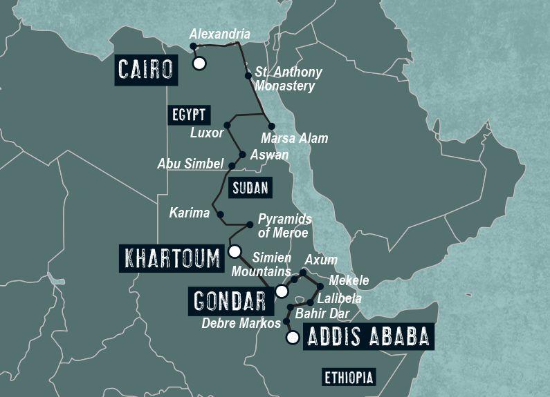 Caïro to Addis Ababa by Dragoman