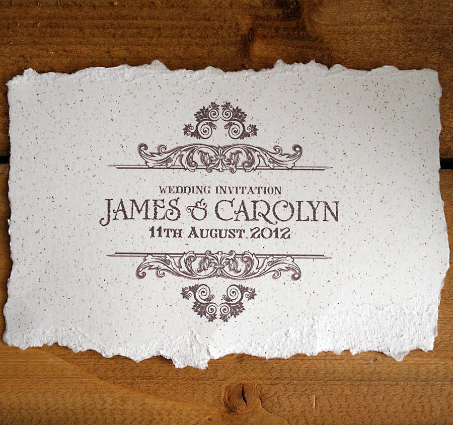 Vintage Style Wedding Invitation | Vintage style weddings, Weddings ...