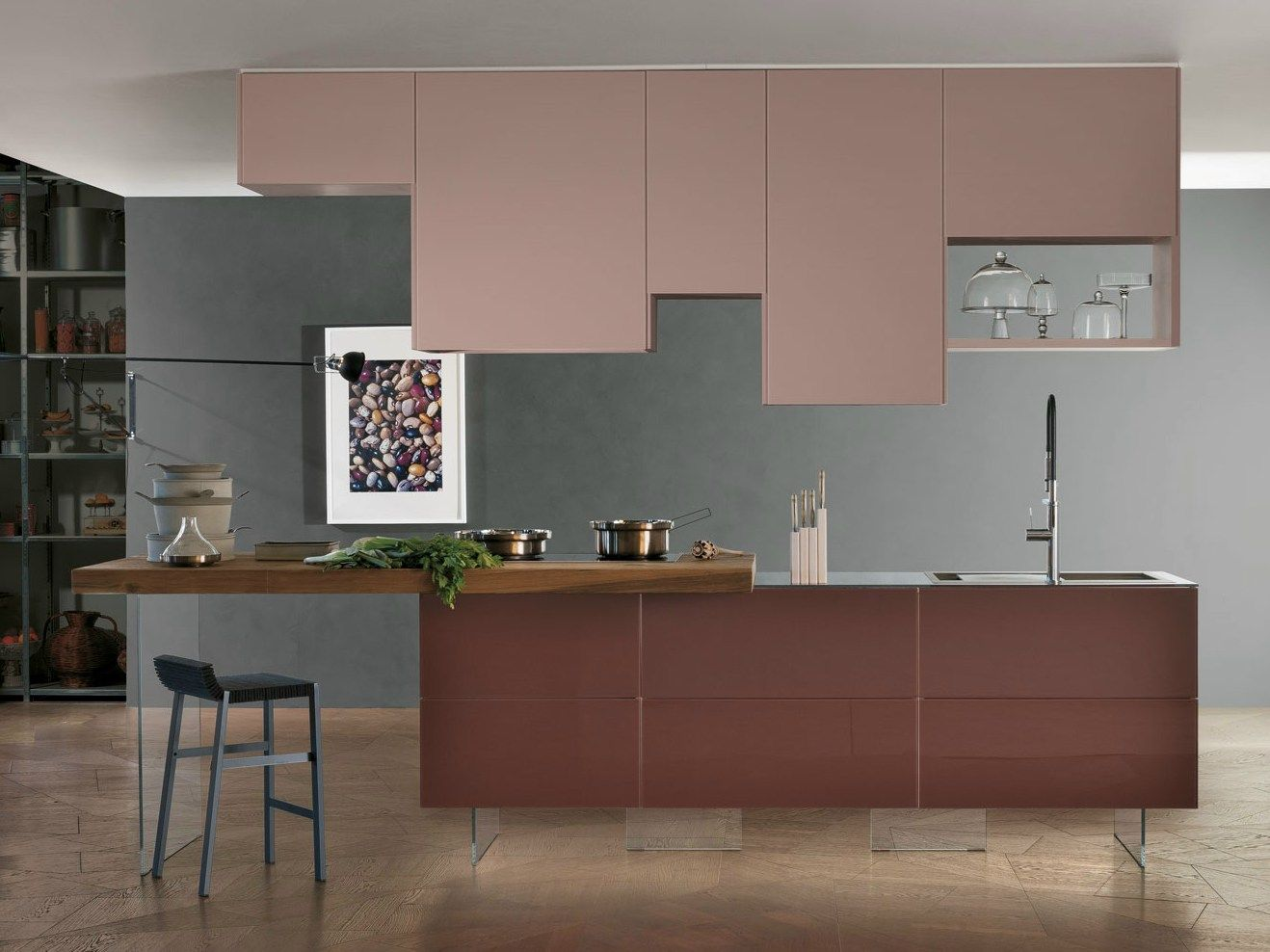 Lacquered Kitchen With Island 36e8 Wildwood Kitchen With Island