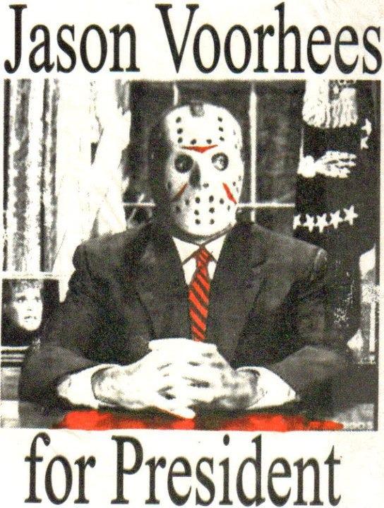 Jason Voorhees for President Funny horror, Horror movie