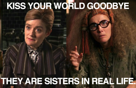Sophie And Emma Thompson Are Indeed Sisters Daughters Of Actress Phyllida Law Harry Potter Facts Harry Potter Quiz Potter Facts
