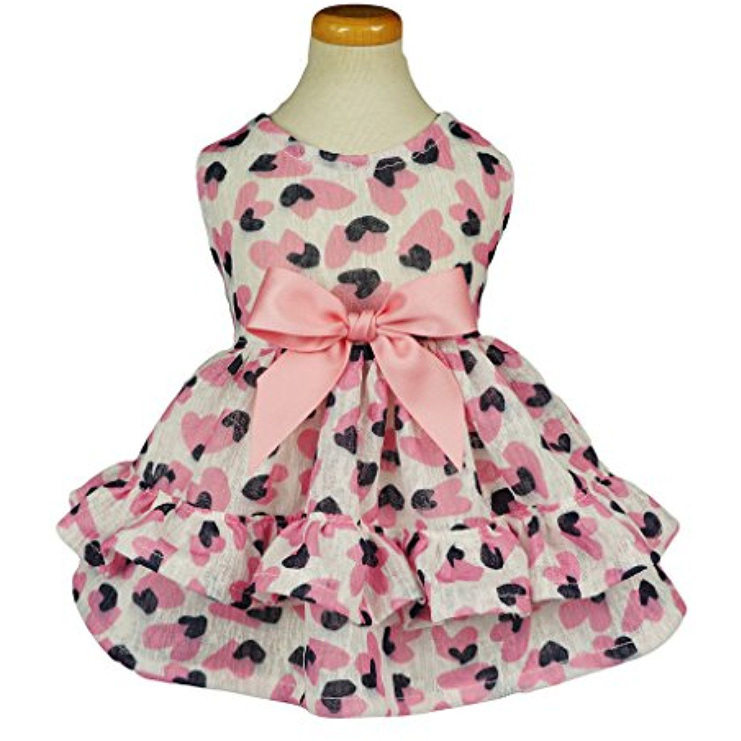 Fitwarm Tiered Dog Dresses Pet Clothes Sundress Vests Shirts Sweetie ...