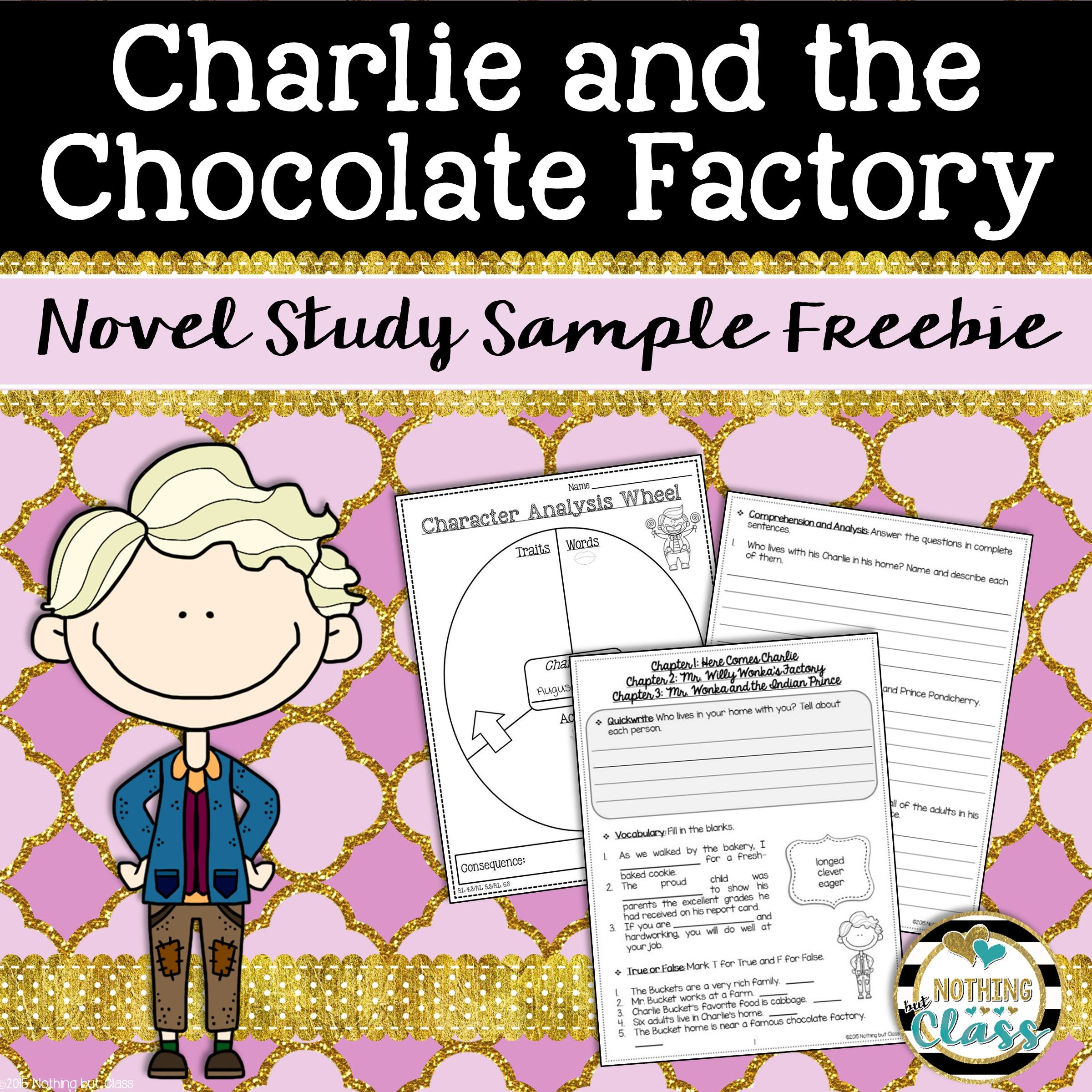 Charlie And The Chocolate Factory Novel Study Unit Free