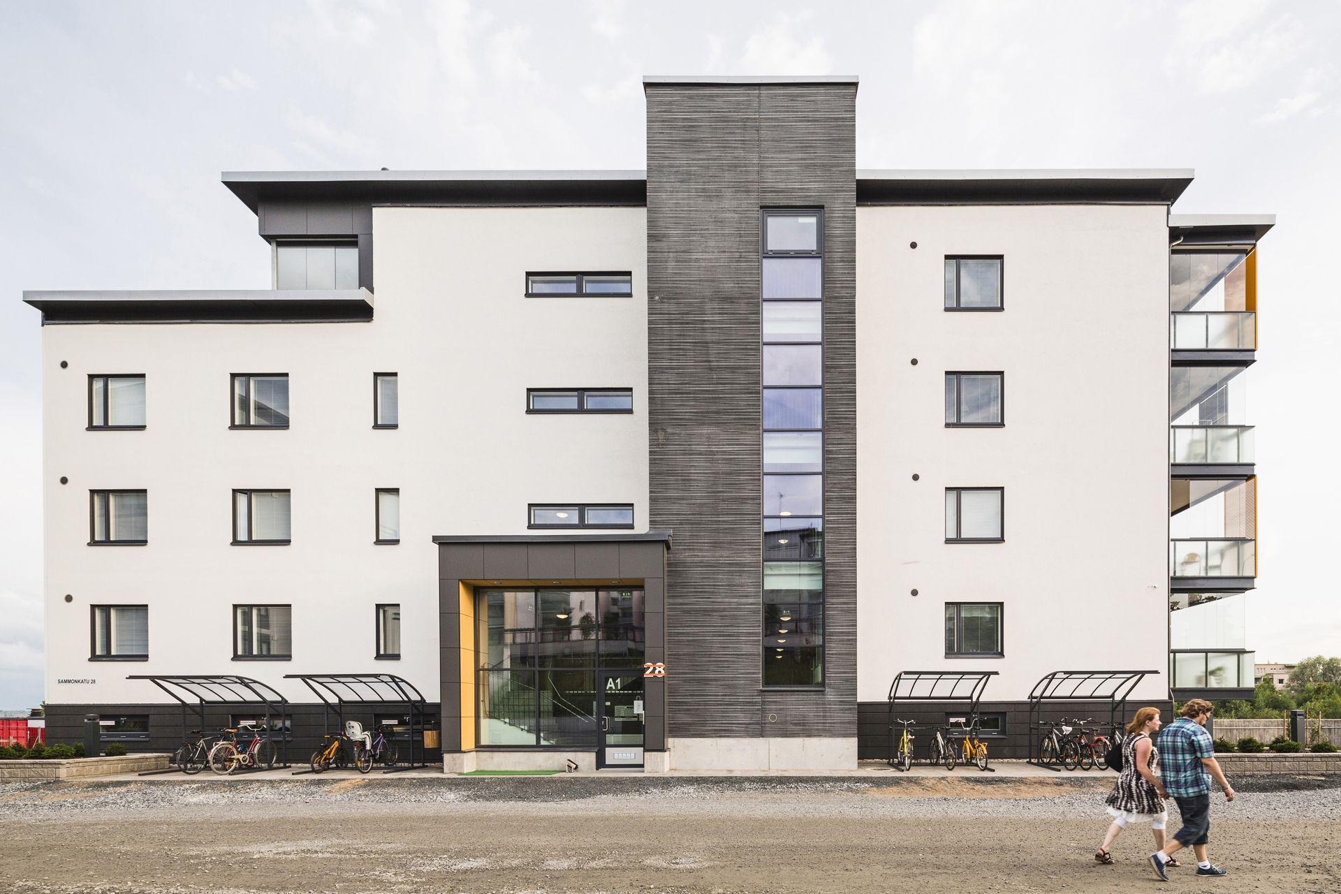 Pattern: Ikat negative. As Oy Kuopion Majakka, Finland 2015 (housing). Architecture by QVIM Arkkitehdit Oy, Prefabrication by Ämmän Betoni Oy. Photo by Kuvatoimisto Kuvio.