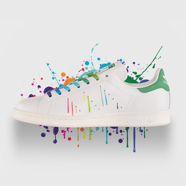 adidas superstar paint splatter kopen