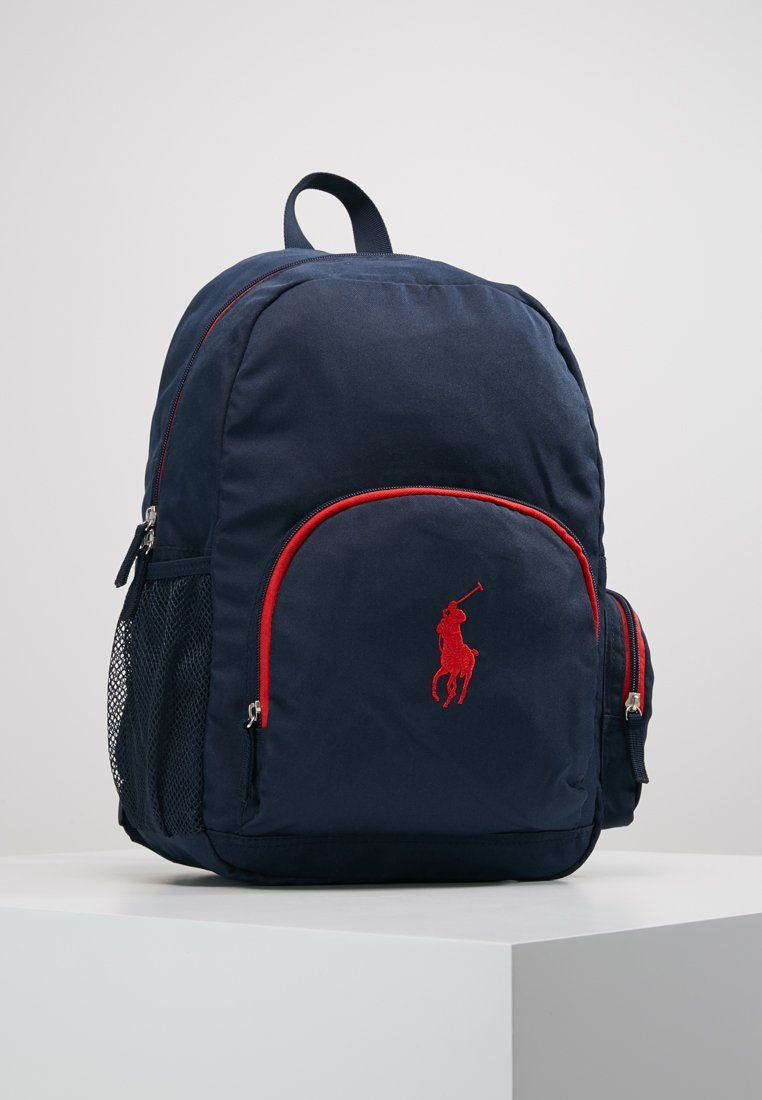 3ea2f798a3 Polo Ralph Lauren CAMPUS BACKPACK - Zaino - navy nylon/red - Zalando ...