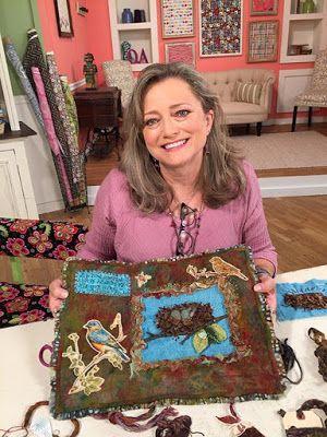 Susan Edmonson On The Set Of Quilting Arts Tv Series 1700