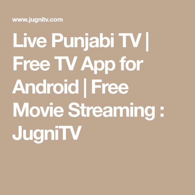 Live Punjabi TV | Free TV App for Android | Free Movie Streaming