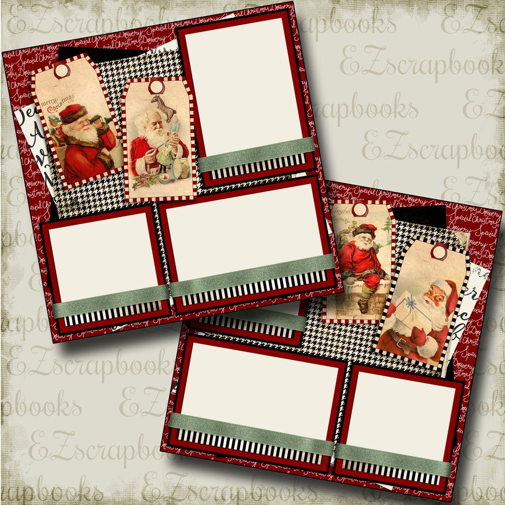 FEBRUARY Premade Scrapbook Pages EZ Layout 357
