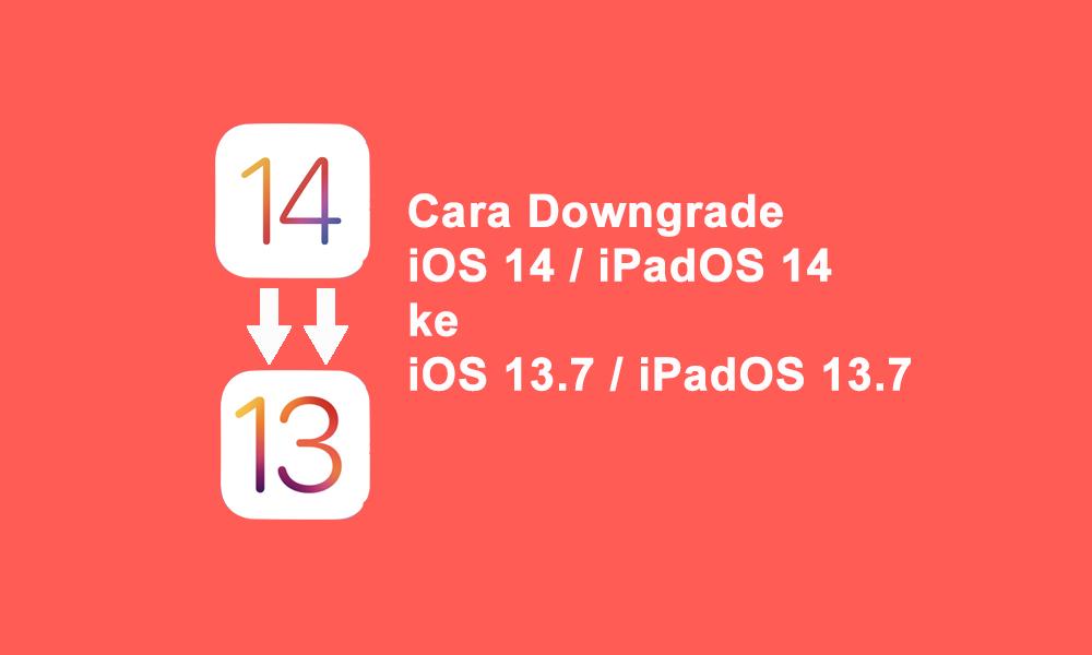 Cara Downgrade Ios 14 Ke Ios 13 Ios Belajar Iphone