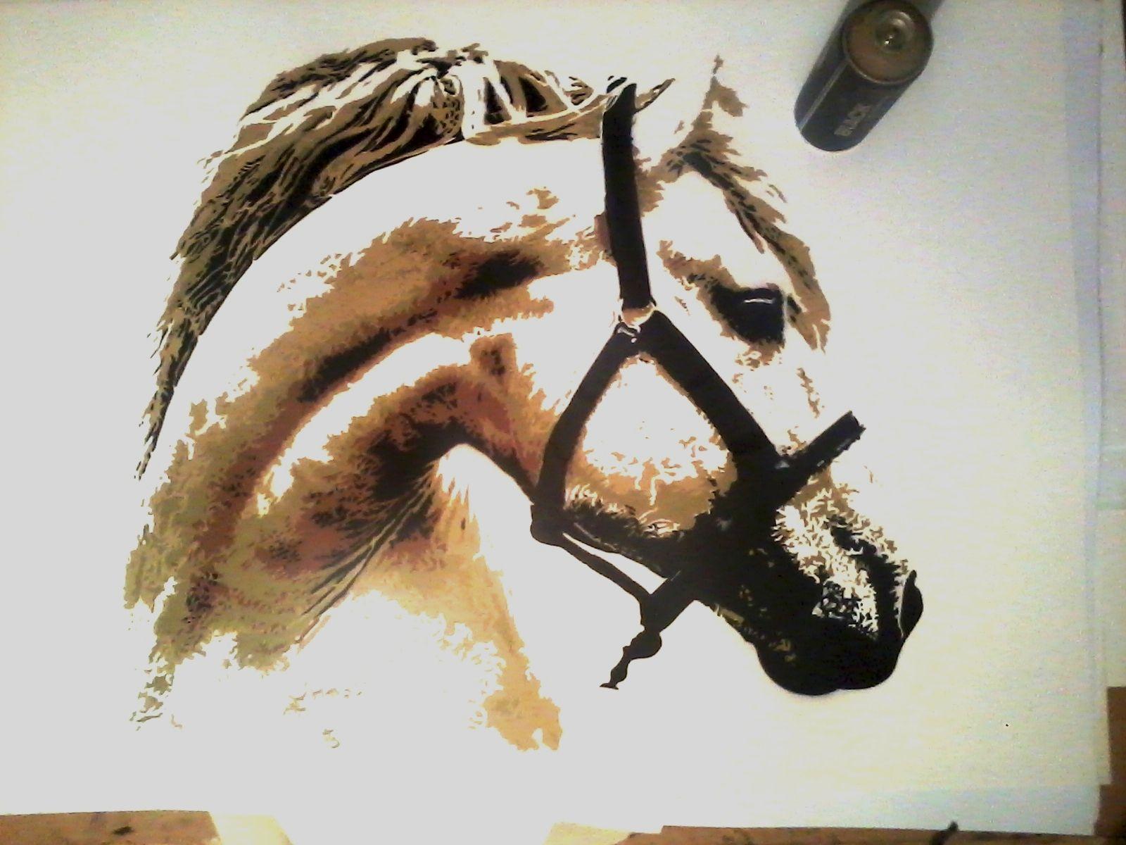 Horse Head Multilayer Stencil Multi layer stencils for sale