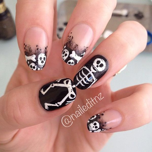 50 Cool Halloween Nail Art Ideas | Makeup, Halloween nail designs ...