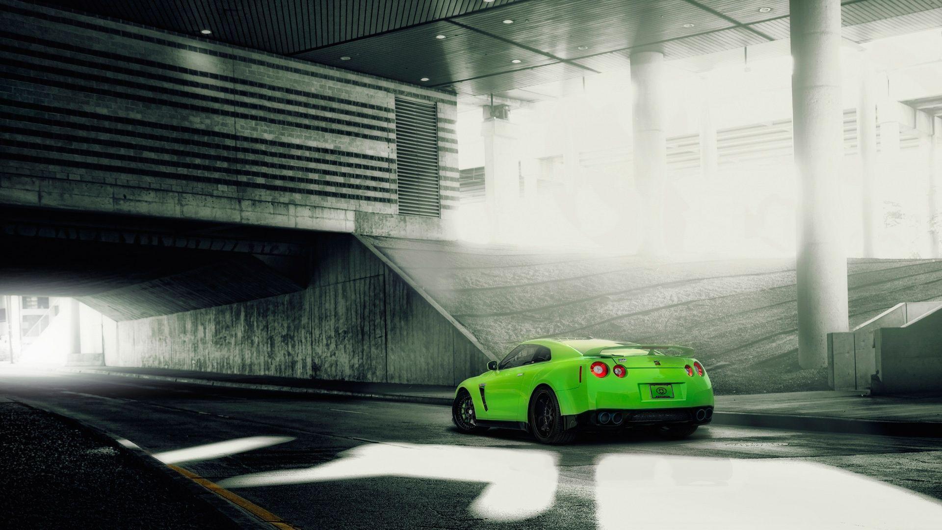 Free Green Color Nissan Gtr 1080p Wallpapers Nissan Gtr Gtr Car