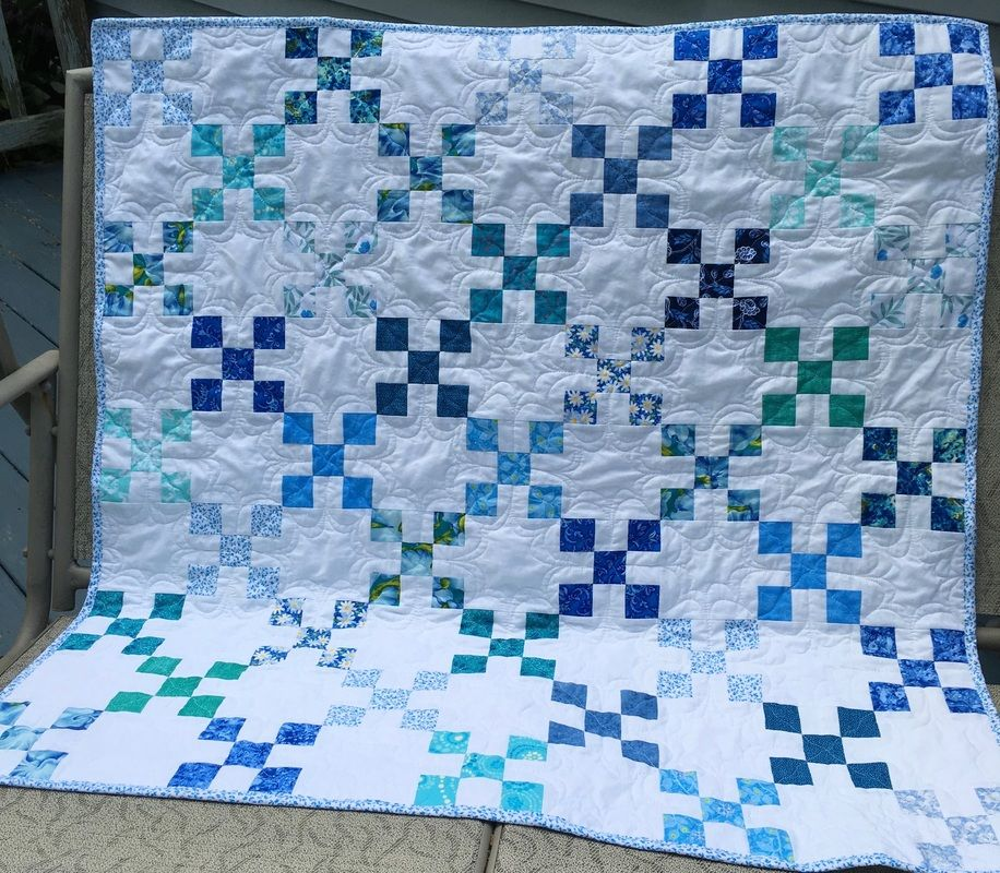 Blue And Teal Baby Quilt From Httphomesewnbycarolyn