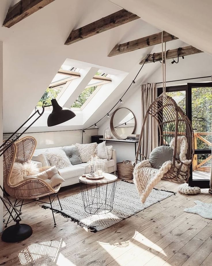 Photo of neutral boho living room #home #style