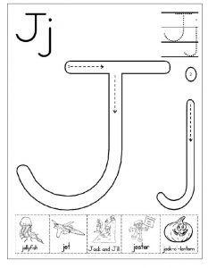 Letter j worksheet for kindergarten preschool and 1st grade letter j worksheet free printable ibookread PDF