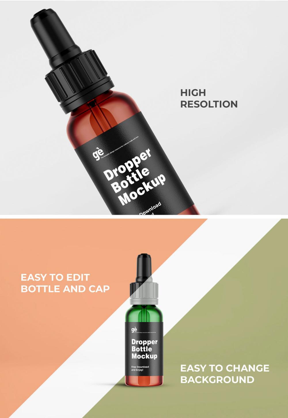 Free Amber Glass Small Dropper Bottle Mockup Free Package Mockups In 2021 Dropper Bottles Bottle Mockup Bottle