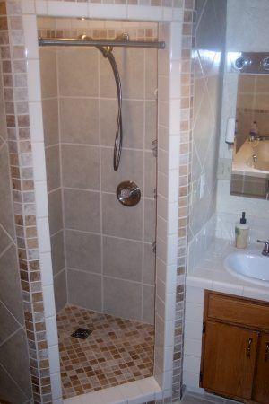 tile shower corner | Bathroom makeover! | Pinterest | Tile showers ...