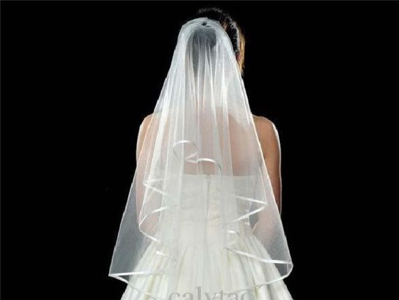 Wedding Bridal Veil Tulle Two Layers Bride Accessories Short Women Veils Comb