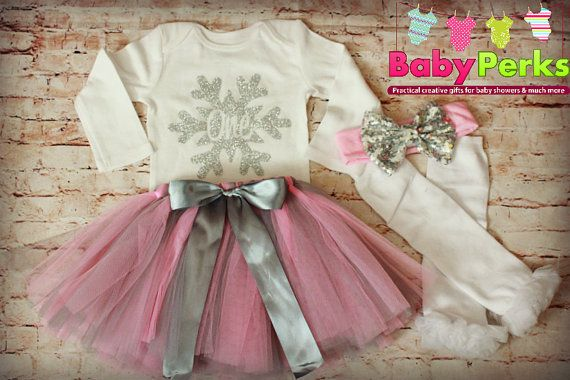 Pink And Grey Birthday Outfit Winter Onederland Theme Winter