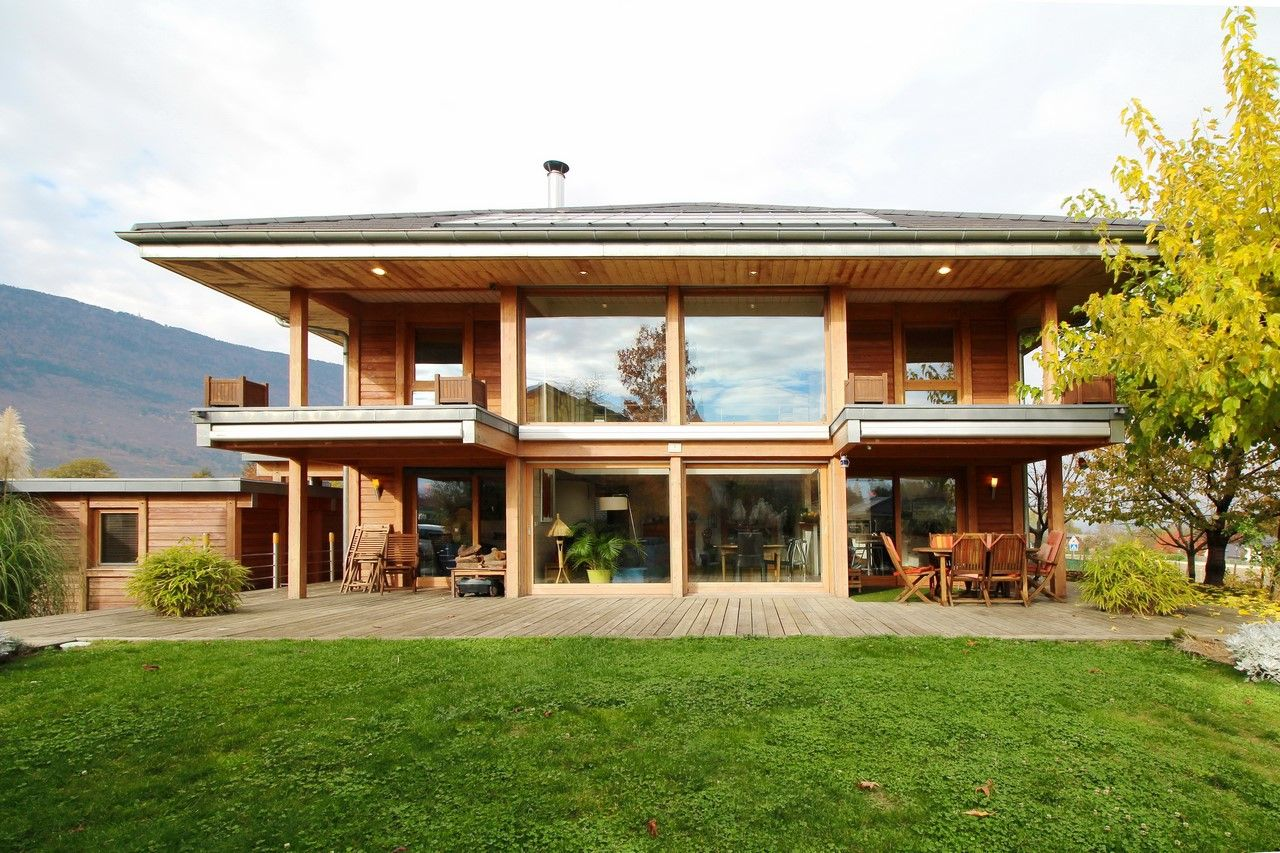 Maison En Bois Annecy maison ossature bois sur les hauteurs de chambéry. - agence